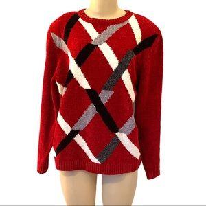 Alfred Dunner 90's Retro Grandpa Sweater